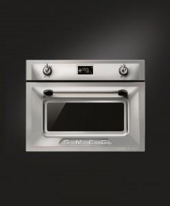 Smeg Victoria SF4920VCX Çelik/Gümüş Kombi Buharlı Fırın