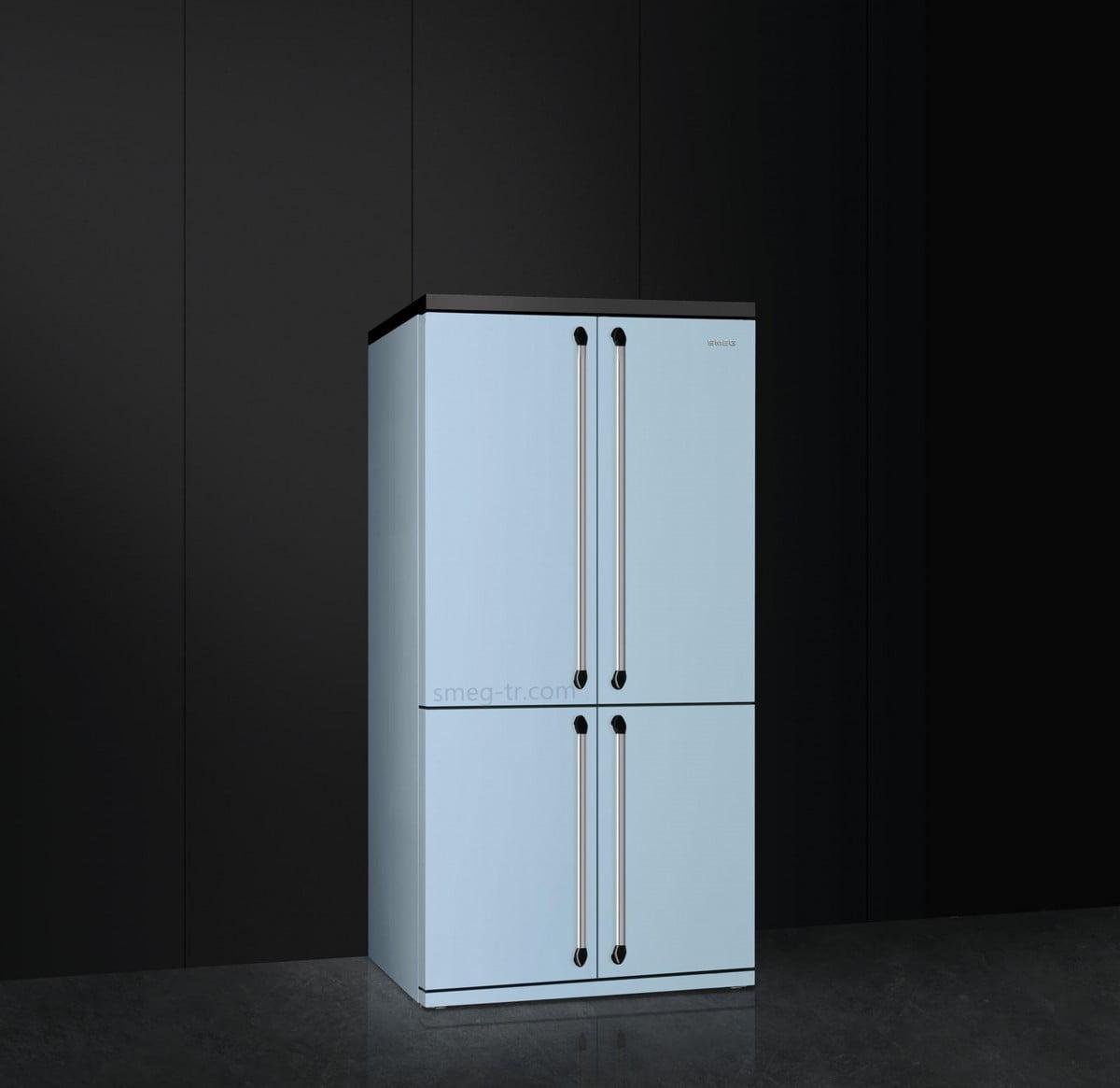 Smeg Victoria 4 Kapılı Buzdolabı Mavi FQ960PB