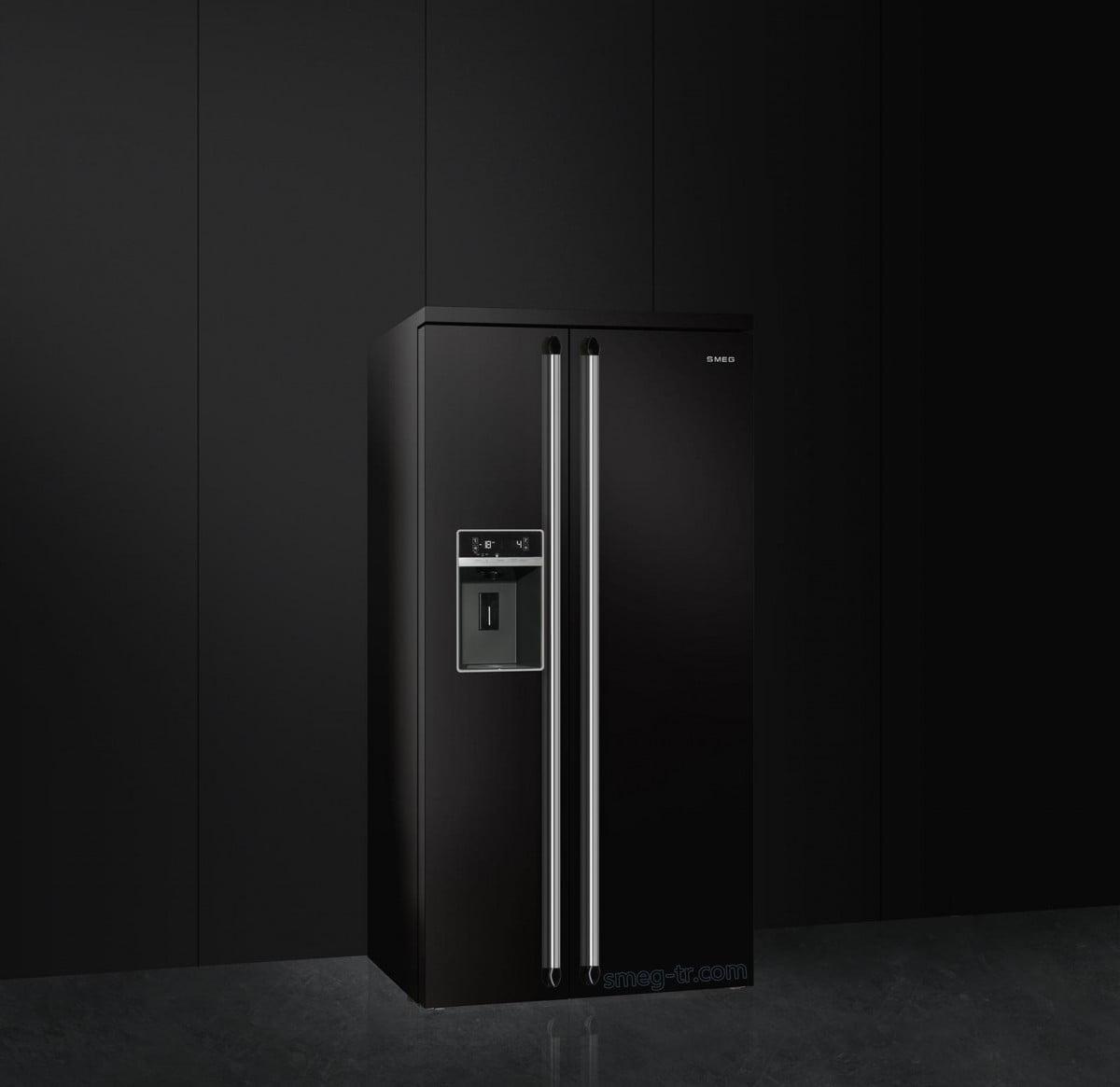 Smeg Victoria Gardrop Tipi Buzdolabı Siyah SBS963N
