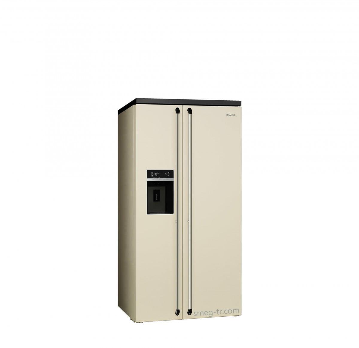Smeg Victoria Gardrop Tipi Buzdolabı Krem SBS963P