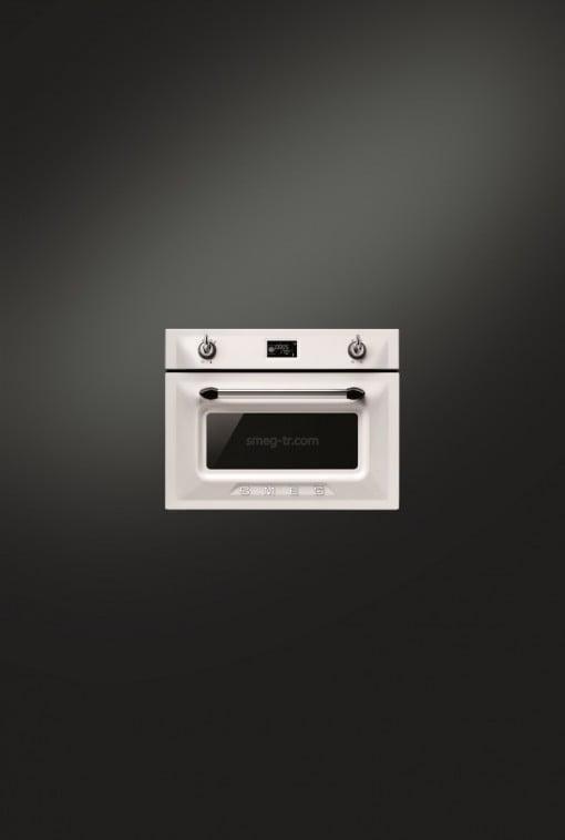 Smeg Victoria SF4920VCB Beyaz/Gümüş Kombi Buharlı Fırın